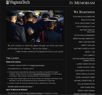 VT Homepage April 19