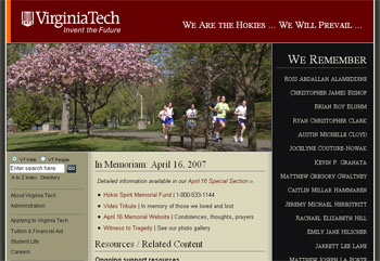 VT homepage - Classes resume