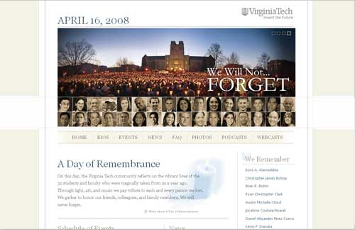 VT Remembrance Website