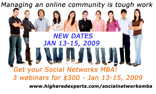 Social Networks MBA Series - Nov 11-13