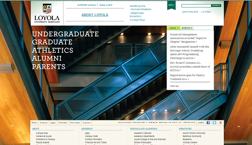 Loyola Universitiy Maryland - old homepage