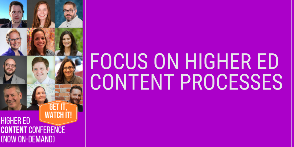 Focus on higher ed content processes: how higher ed content is made